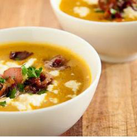 Vegetable Soup with Bacon and Feta Cheese image